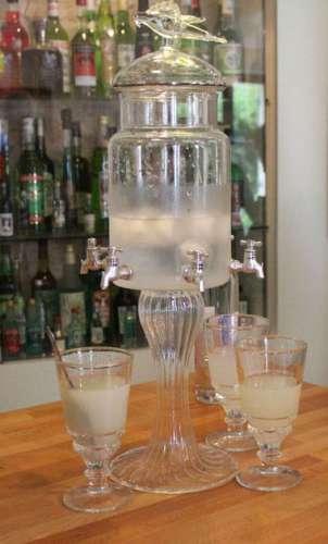 Absinthe fountain in musée de l'absinthe