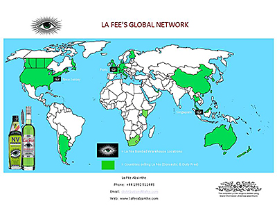 La Fée Global network map