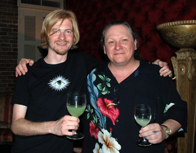 Oscar Dodd of La Fée with Gwydion Stone Founder of The Wormwoos Society