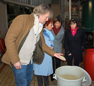 George Rowley checking Fennel before distillation of La Fée absinthe
