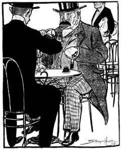 2 victorian gentlemen drinking absinthe