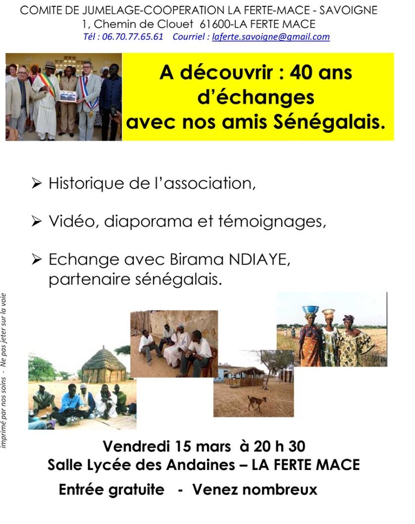 Soirée Jumelage La Ferté-Macé / Savoigne - Mars 2019