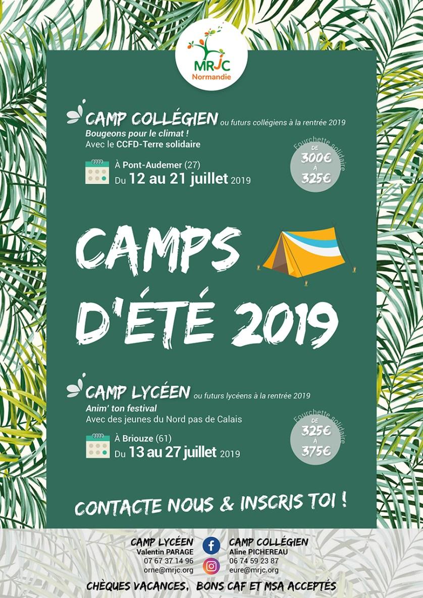 Camps d'été 2019