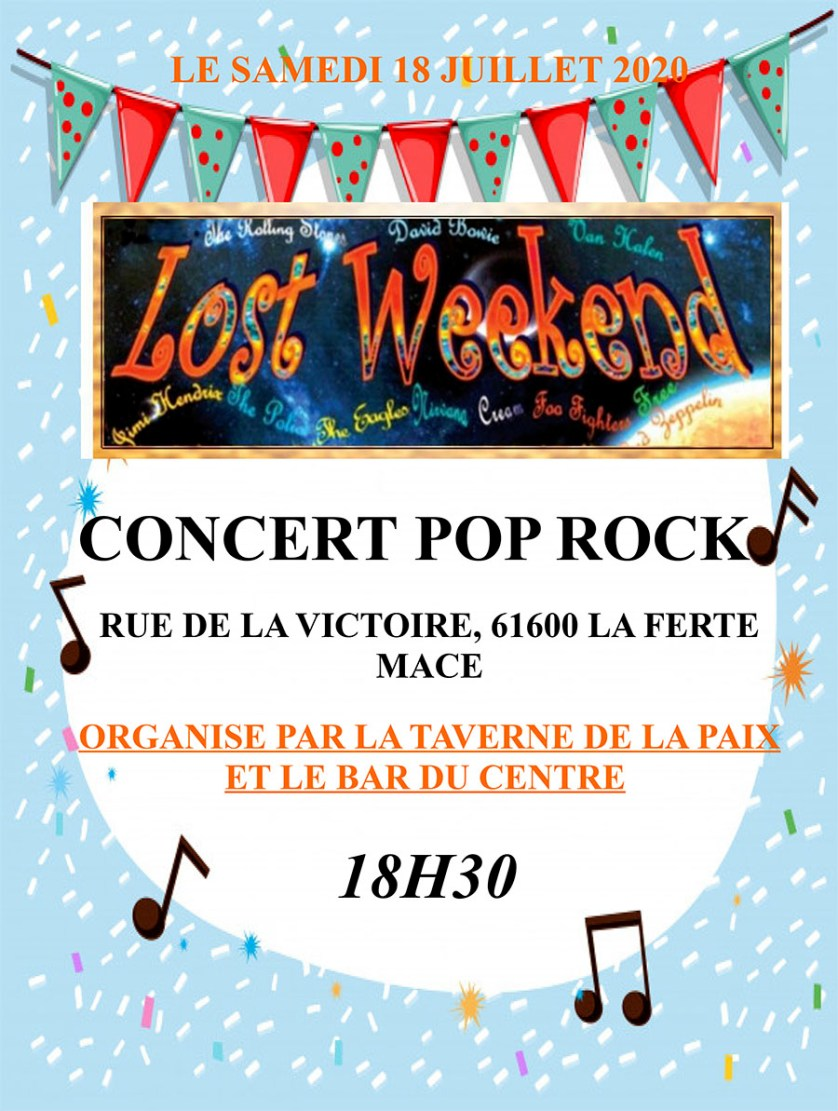 Lost Weekend Juillet 2020