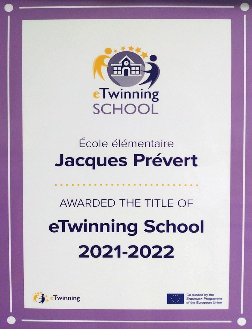 Label eTwinning School 2021