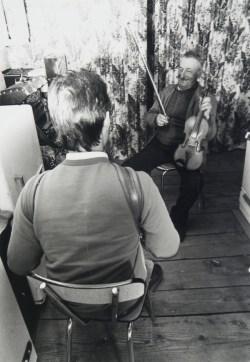 André Gatignol (violon) et Eric Cousteix (de dos) (ph. F. Breugnot)