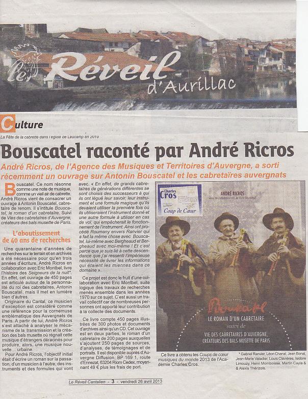 Article Bouscatel Réveil