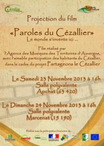 Affiche et flyer 23 et 24 11 2013