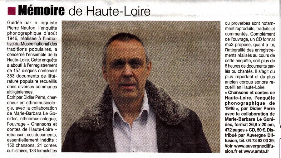 Article Info du 3 mars Didier Perre