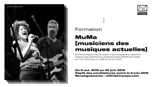 Nouveau diplôme de musicien : le MuMA recrute ! Candidatures saison 2018-2019