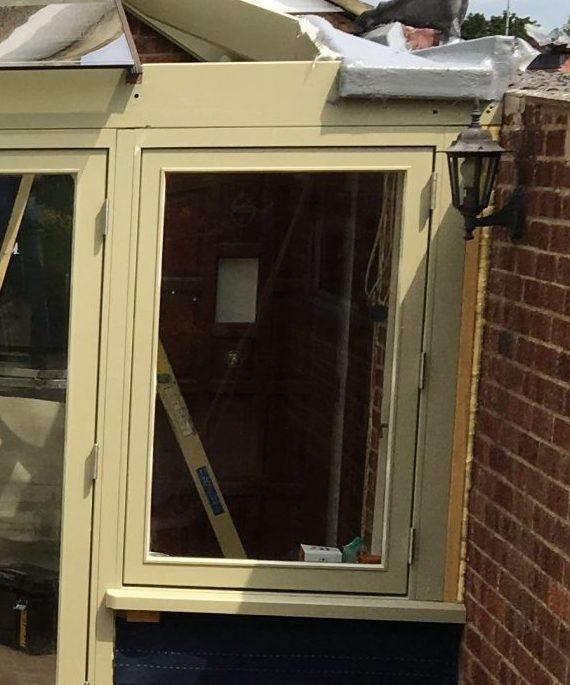conservatory-progress TILT & TURN WINDOWS Timber