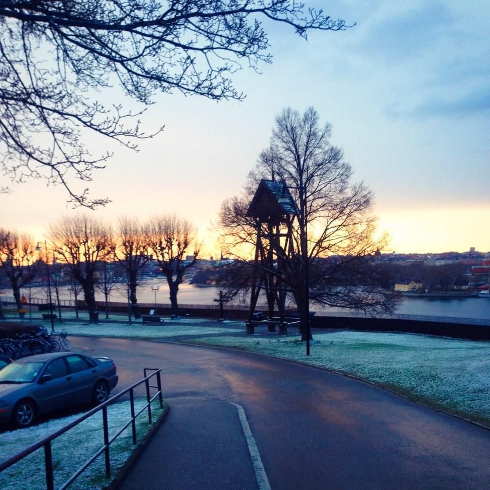 Couché de soleil à Stockholm
