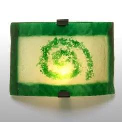 aplique de pared vidrio ondulado verde