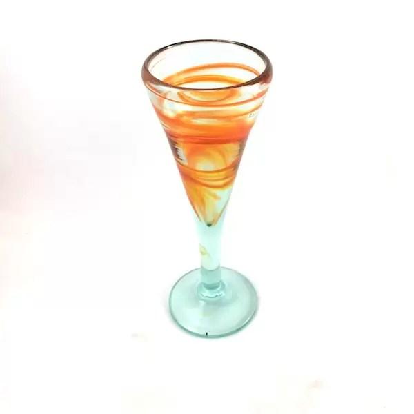 Copa Vidrio Cristal naranja