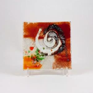 plato vidrio fusing
