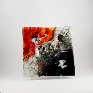 plato decorativo vidrio fusing