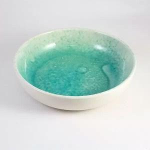 Cuenco de ceramica mallorquina turquesa 22