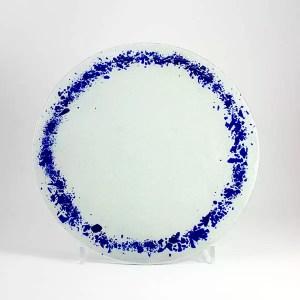 bajo plato corona azul