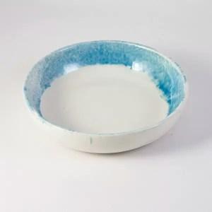 cuenco ceramica celeste 22