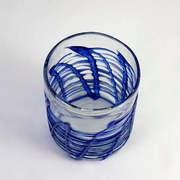 vaso de cristal artístico art of glass mallorca
