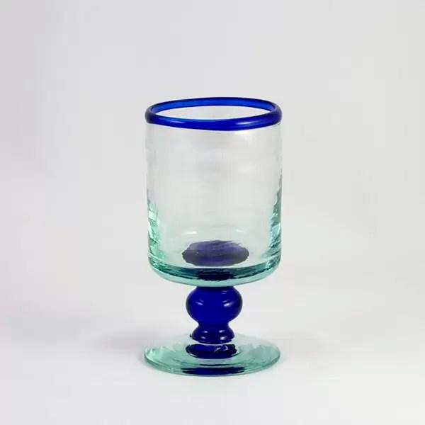 Copa Vidrio Azul Linea Cristal