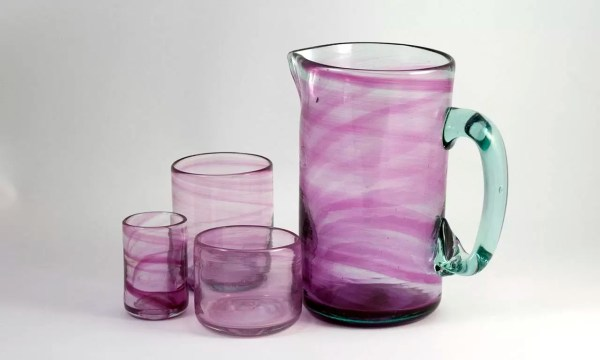 Vidrio Rosa Pink Glass Pitcher