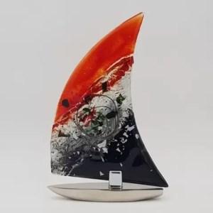 sailing mallorca velero vidrio