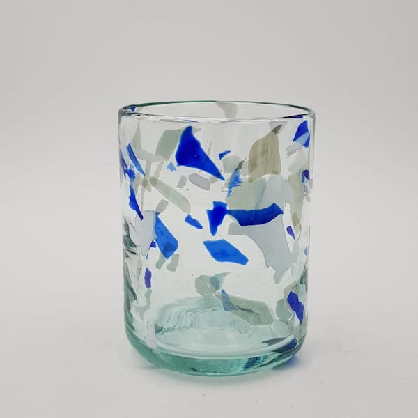 vaso glass terrazzo blue lafiore - Glass Terrazzo B
