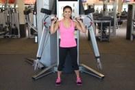 Nico Performing Squat to Shoulder Press at LA Fitness