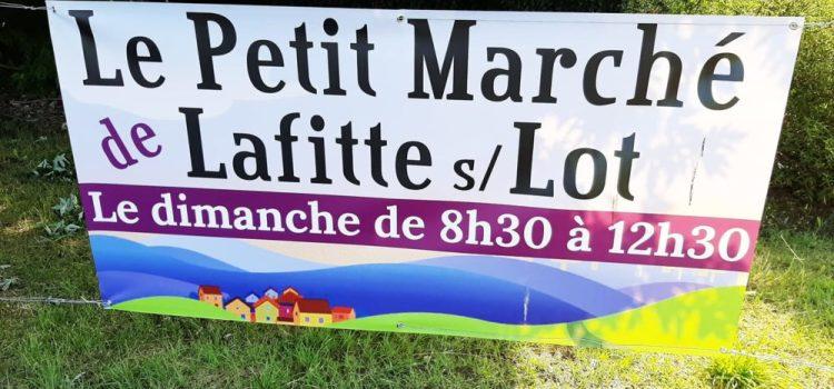 Le petit marché de Lafitte sur Lot