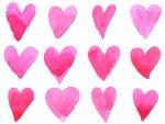 illustration of many hearts