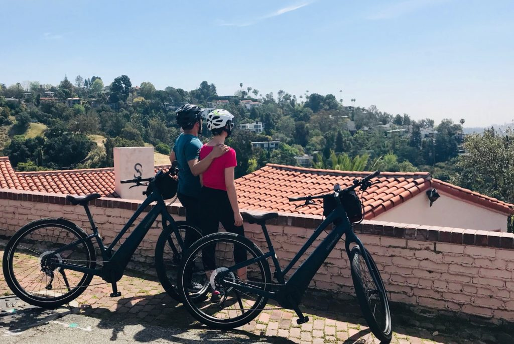 Como ebike on Hollywood sign bike tour