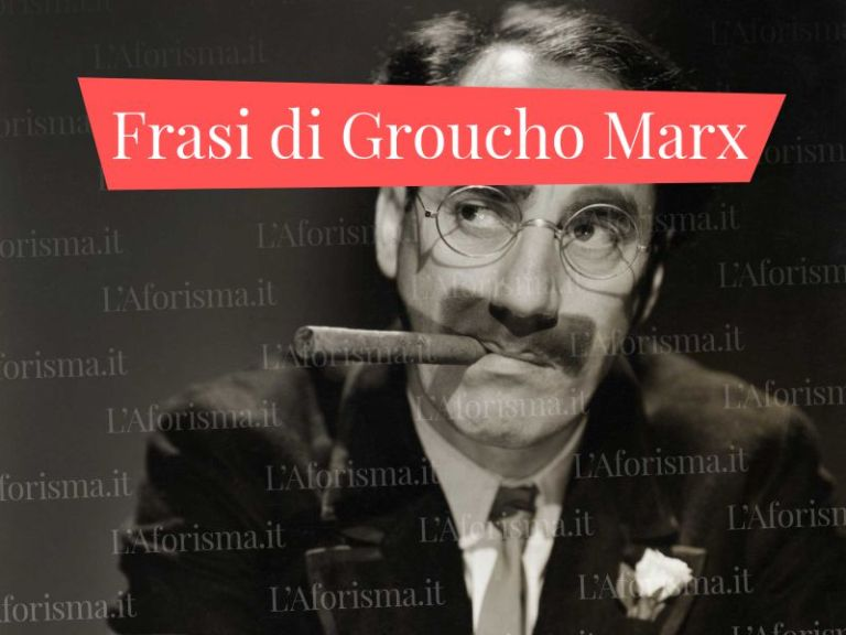Le più belle <strong>frasi, aforismi e citazioni di Groucho Marx</strong> – <em>Raccolta completa</em>