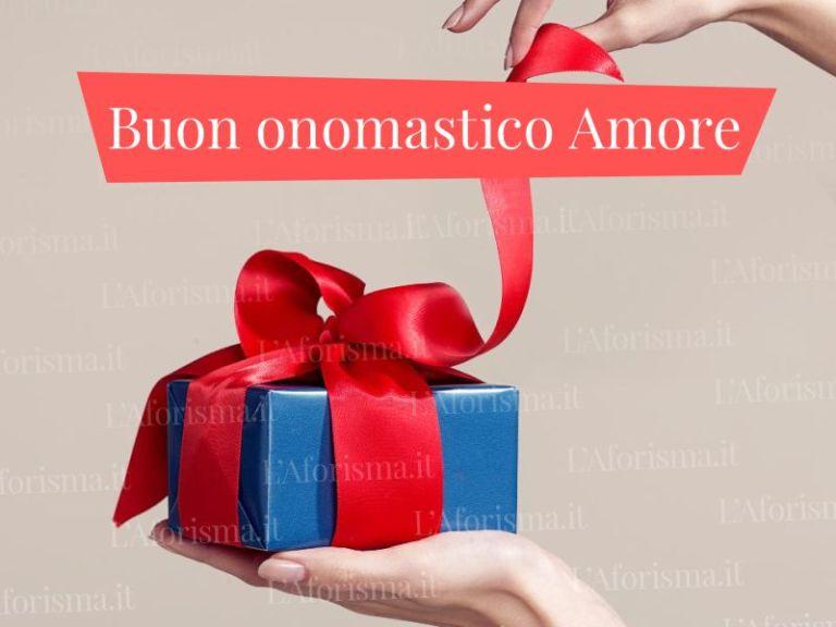 Le più belle <strong>Frasi di Auguri di Buon Onomastico Amore mio </strong>– <em>Raccolta completa</em>