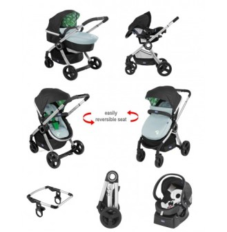 chicco urban stroller t- system & colour pack - football crazy