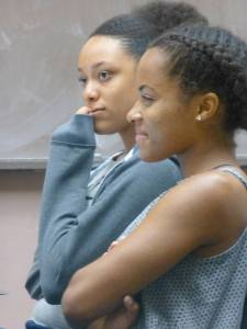 "Actors: Ana Uzule (foreground) ""Retha"" and Dionna Jenkins ""Nina""."