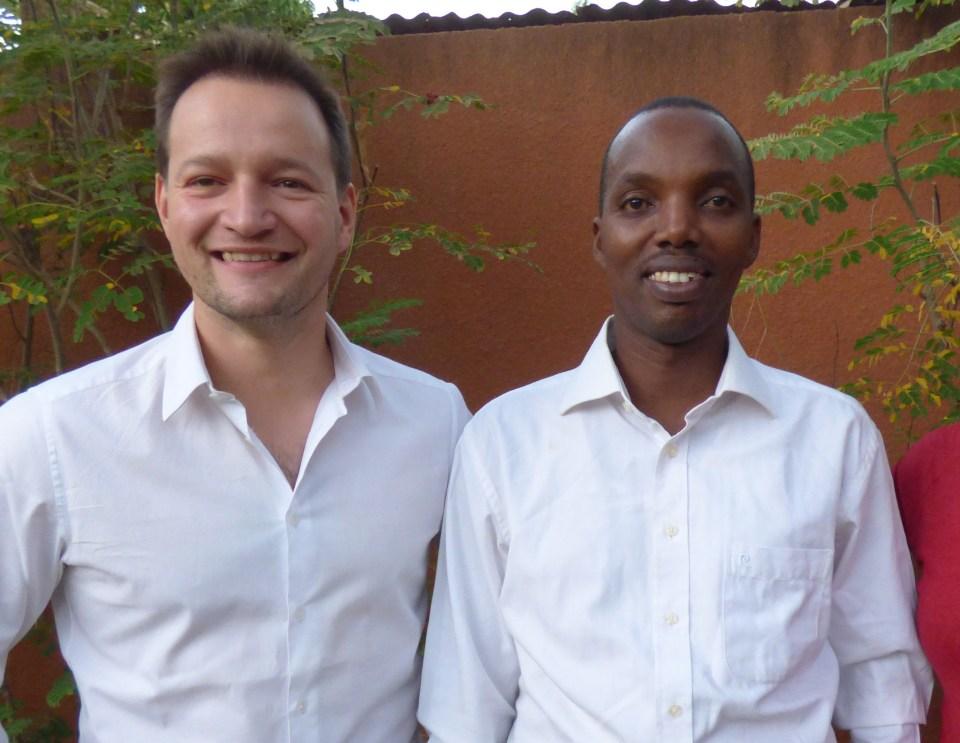 Franck Langevin et Gérard Niyondiko