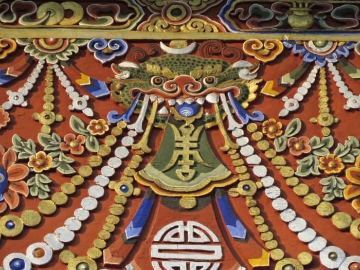 decoration pattern asia art dragon hindu temple bhutan