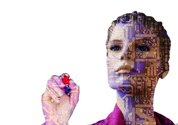 Robô, Inteligência Artificial, Mulher, Frente