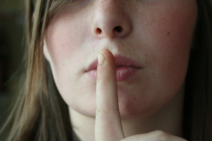 Secret, Lips, Woman, Female, Girl, Young, Face, Finger