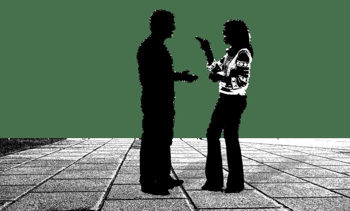 Conversation, Talk, Talking, People, Two, Figures