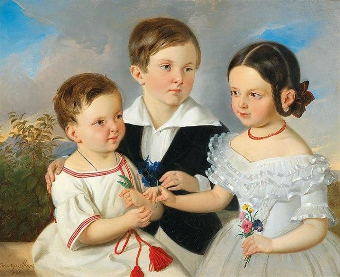 File:Johann Nepomuk Mayer - Three Siblings.jpg