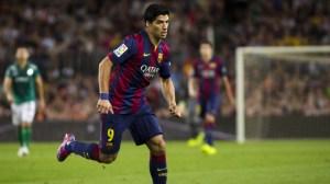 Luis Suarez pictured in action