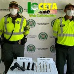POLICIA DE TRANSITO Y TRANSPORTE INCAUTÓ UNA PISTOLA CON 27 CARTUCHOS