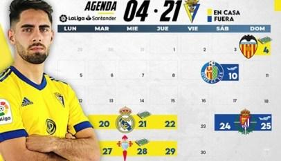 Cádiz CF mes de abril