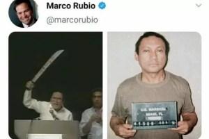 Senador Marco Rubio le recuerda a Maduro la historia de Noriega