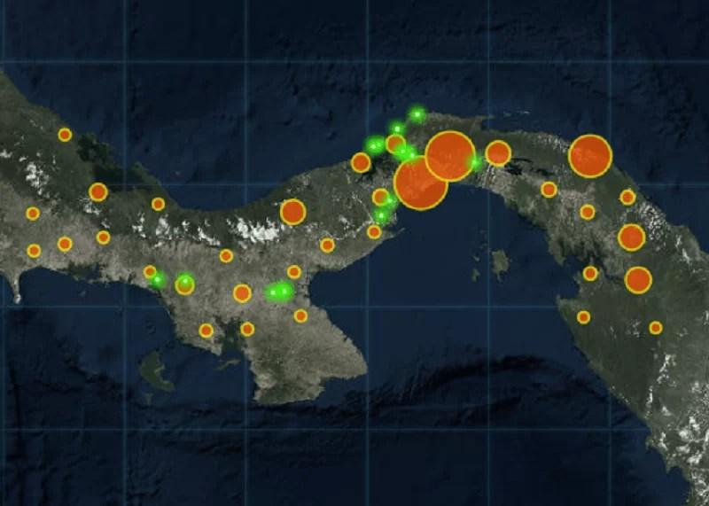 Mapa Covid-19 Panamá