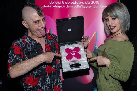 RatPenat y Nora Barcelona en los Premios Ninfa 2016