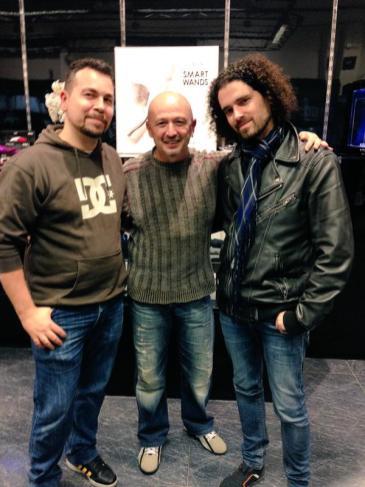 Con Roberto y Alex Salgado