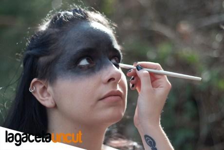 Eva Autumn en el rodaje The ritval
